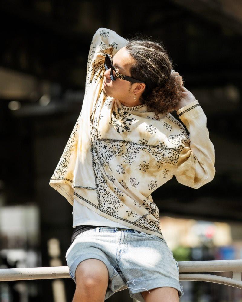 オーバーサイズクラシックペイズリーロングTシャツの画像3